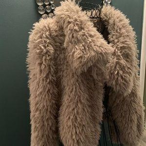 Zara basic fur faux jacket Xs
